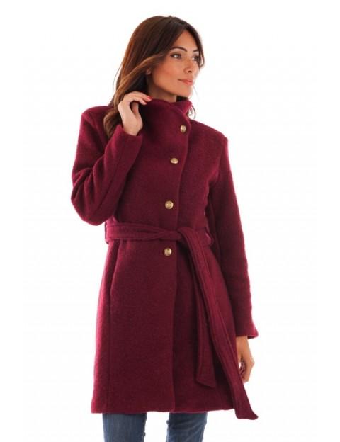 Manteau col montant - bordeaux