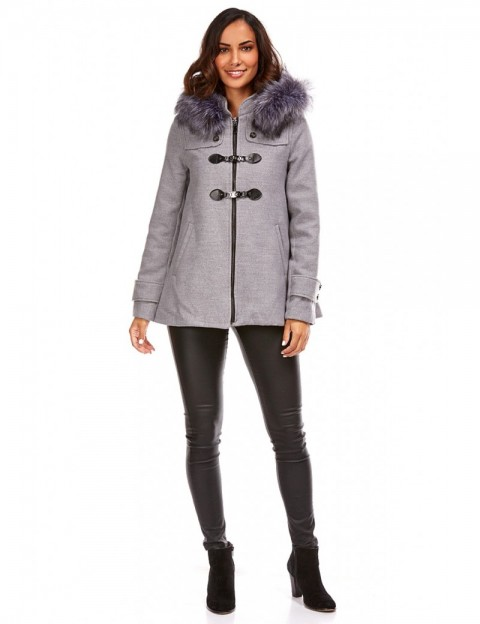 Duffle coat court - Gris