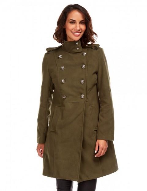 Manteau style militaire - kaki