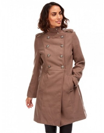 Manteau style militaire - taupe