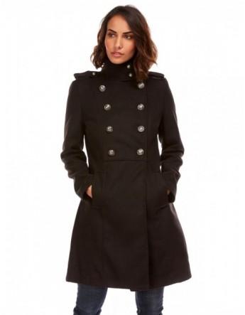 Manteau style militaire - noir