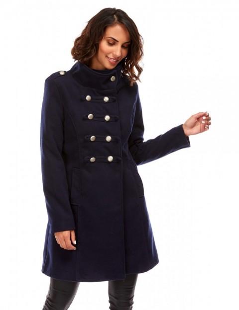 Manteau mi-long militaire - marine
