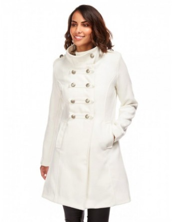 Manteau mi-long militaire -...