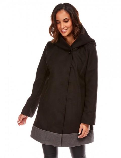 Manteau coupe cintrée - noir