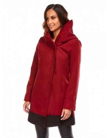 Manteau coupe cintrée - bordeaux