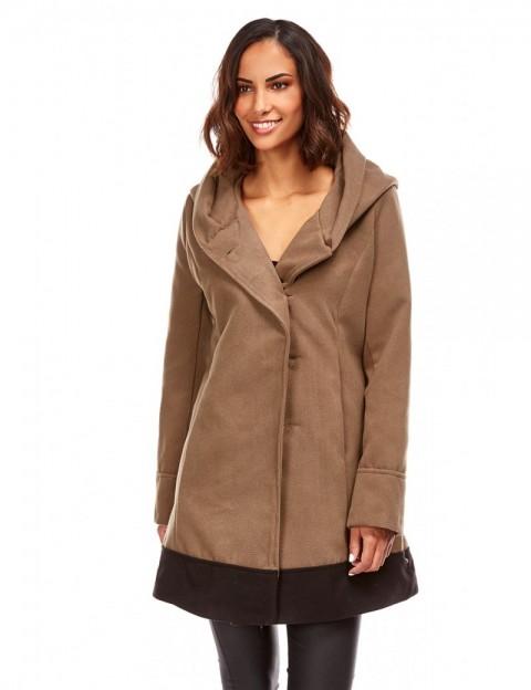 Manteau coupe cintrée - taupe