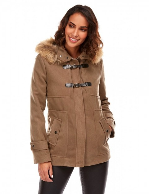 Duffle coat court - taupe