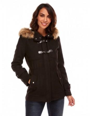 Duffle coat court - noir