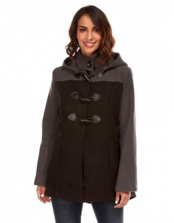 Duffle coat bicolore - noir