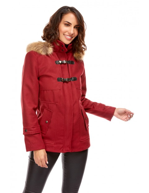 Duffle coat court - bordeaux