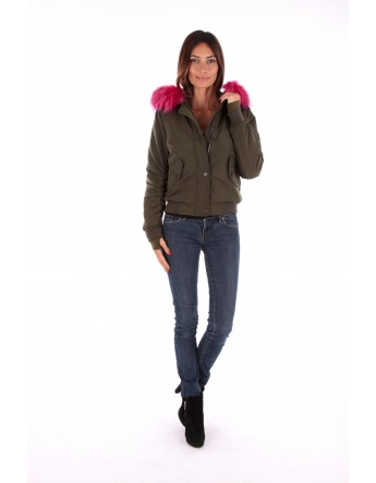 Doudoune Kaki-Rose Le Comptoir du Manteau