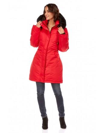 doudoune Clarisse - rouge Le Comptoir du Manteau