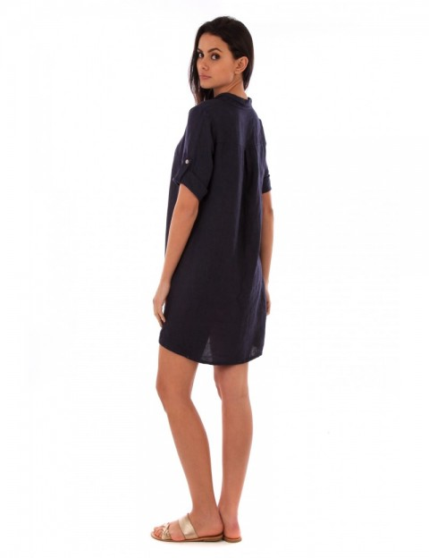 ROBE CHEMISE LIN MARINE Lin Passion
