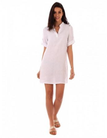 ROBE CHEMISE LIN BLANC Lin Passion