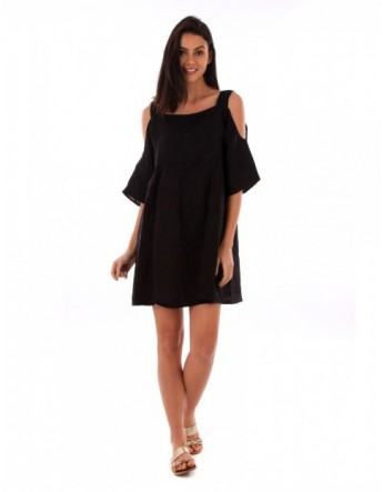 ROBE LIN NOIR Lin Passion