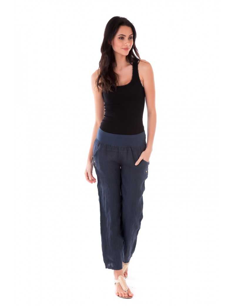 PANTALON LONG LIN MARINE Lin Passion
