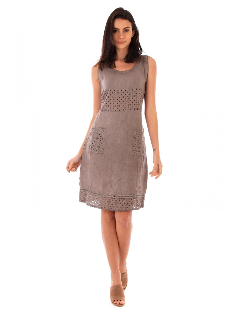 ROBE LIN TAUPE Lin Passion