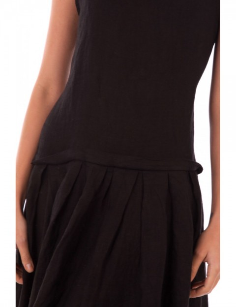 ROBE LIN A VOLANT FRONCE NOIR Lin Passion