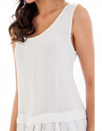 ROBE LIN A VOLANT FRONCE BLANC Lin Passion
