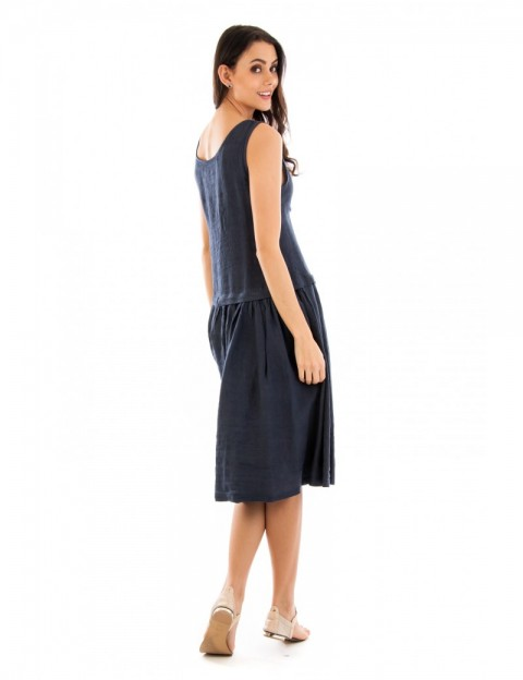 ROBE LIN A VOLANT FRONCE MARINE Lin Passion