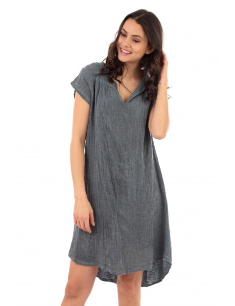 ROBE BIANCA EN LIN JEANS Lin Passion