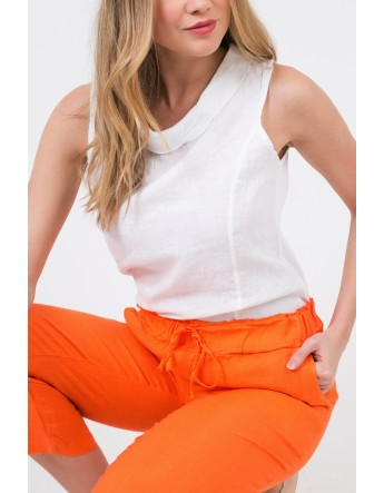PANTALON Justine ORANGE Jean Louis Scherrer Les essentielles