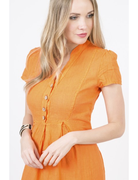 ROBE Emilie ORANGE ACTUMODE