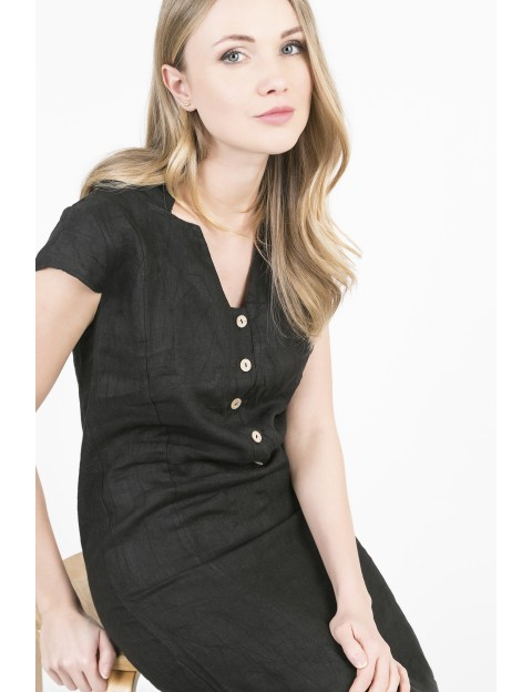 ROBE Yseult NOIR ACTUMODE