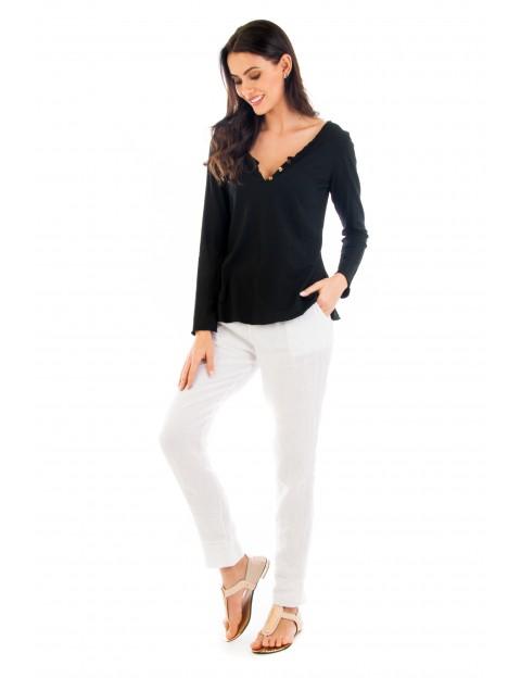 Top Sofia noir en coton Fille de Coton