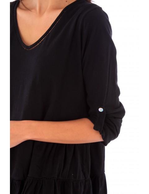 Haut Nina noir en coton Fille de Coton