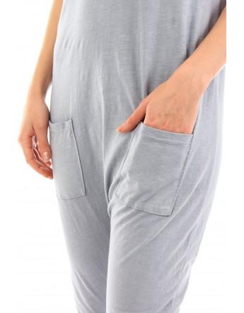 Combinaison Alya gris clair en coton Fille de Coton