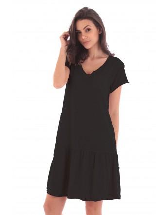 Robe ChloŽ noir en coton