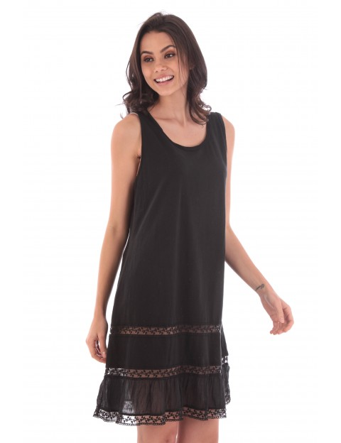 Robe Ambre noir en coton Fille de Coton