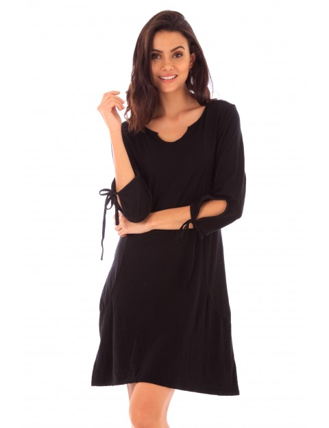 Robe Lana noir en coton Fille de Coton