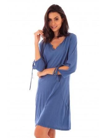 Robe Lana indigo en coton Fille de Coton