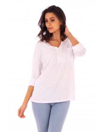 haut Lily blanc en coton