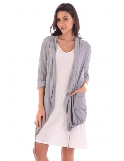Gilet Alix gris en coton Fille de Coton