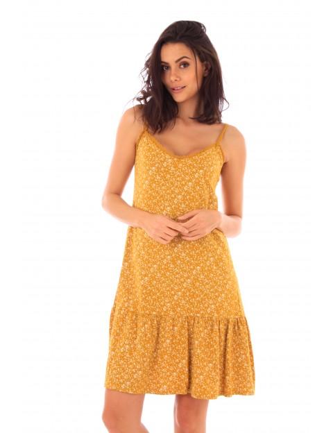 Robe Lucie safran en coton Fille de Coton