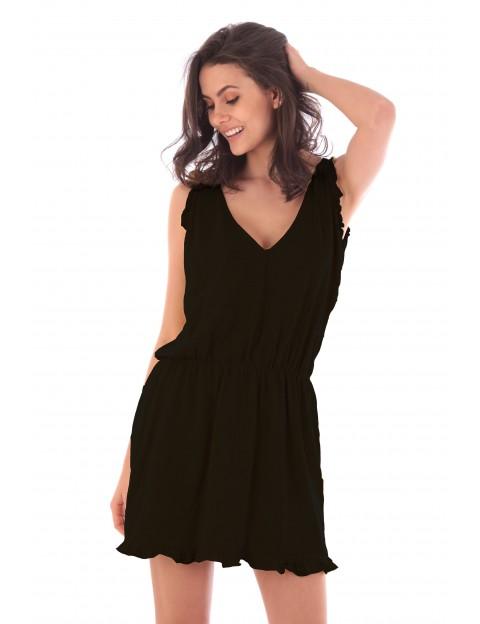 Robe Lucie noir en coton Fille de Coton