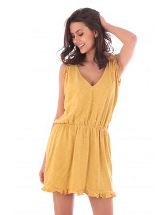 Robe Lucie jaune en coton Fille de Coton