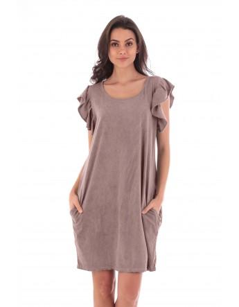 Robe Clara rose en coton Fille de Coton
