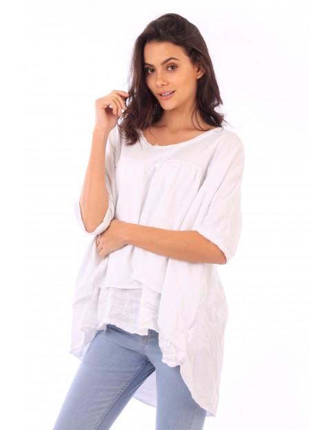 Top CŽlia blanc en coton Fille de Coton