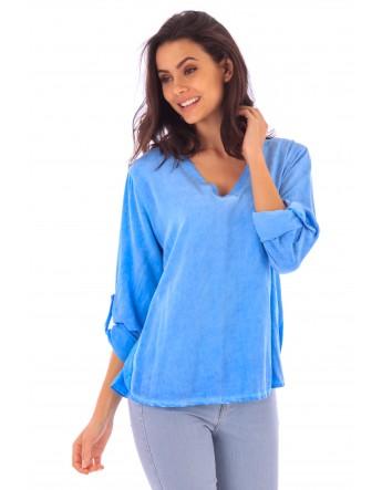 Top Inaya bleu en coton Fille de Coton