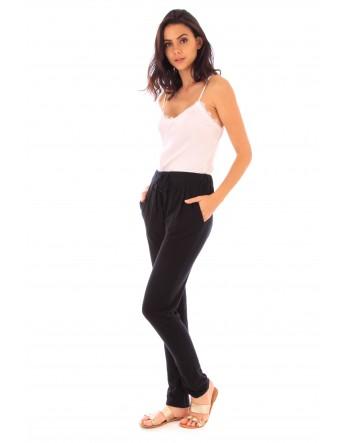 Pantalon Adle noir en coton Fille de Coton