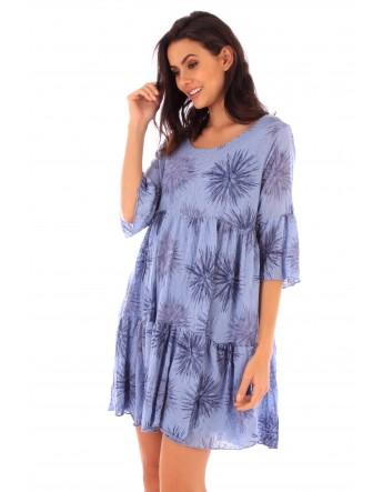 Robe Iris indigo en coton Fille de Coton