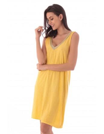 Robe Asmah jaune en coton Fille de Coton