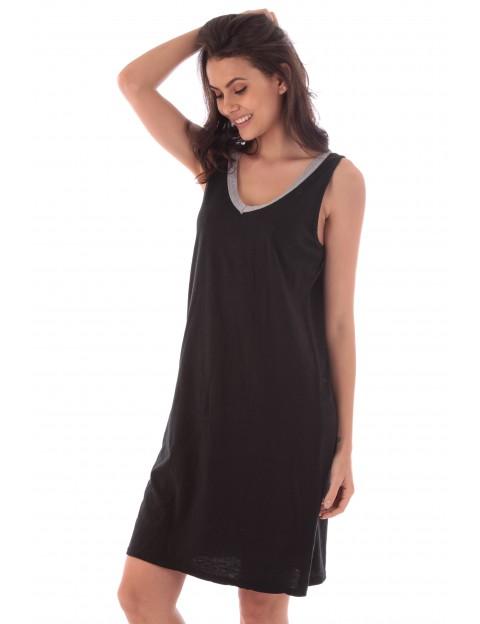 Robe Asmah noir en coton Fille de Coton