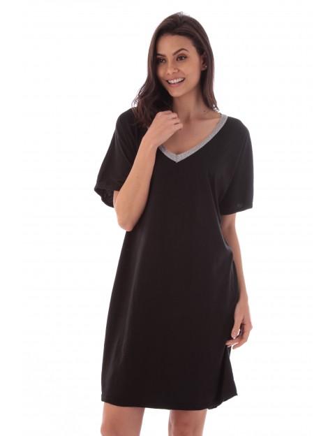 Robe Flora noir en coton Fille de Coton