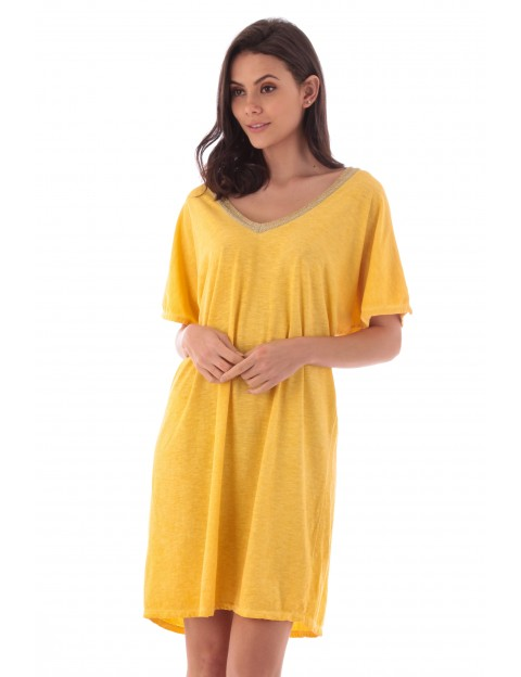 Robe Flora jaune en coton Fille de Coton