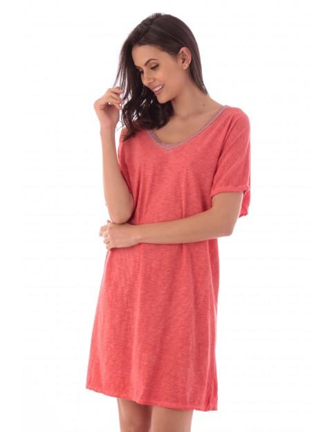 Robe Flora corail en coton Fille de Coton